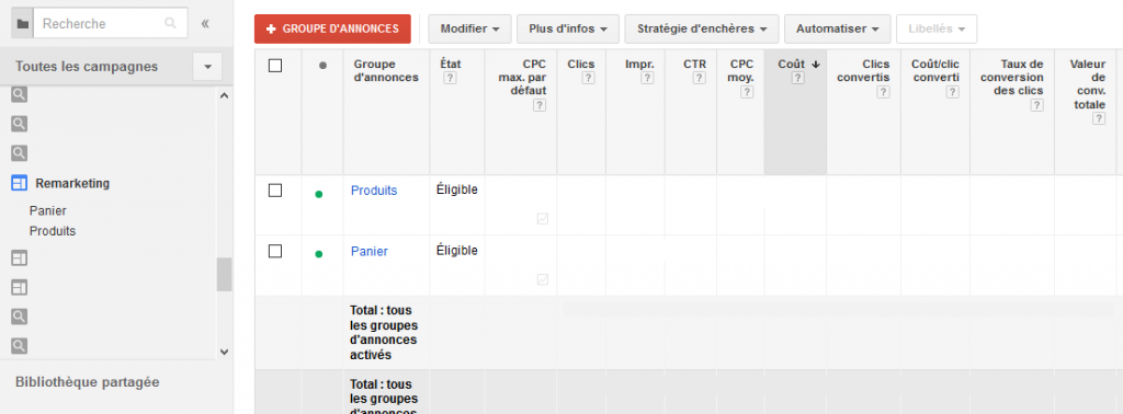 Blog Ecommerce Adwords remarketing